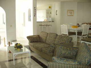 This luxury apartment in the Spanish resort of Mijas is available for rental.